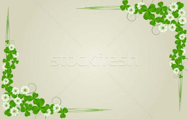 St. Patrick's Day postcard Stock photo © lirch