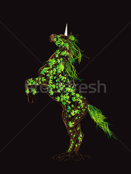 Fairytale unicorn Stock photo © lirch