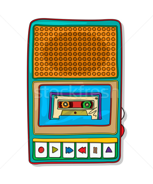Pop art audio tape recorder Stock photo © lirch
