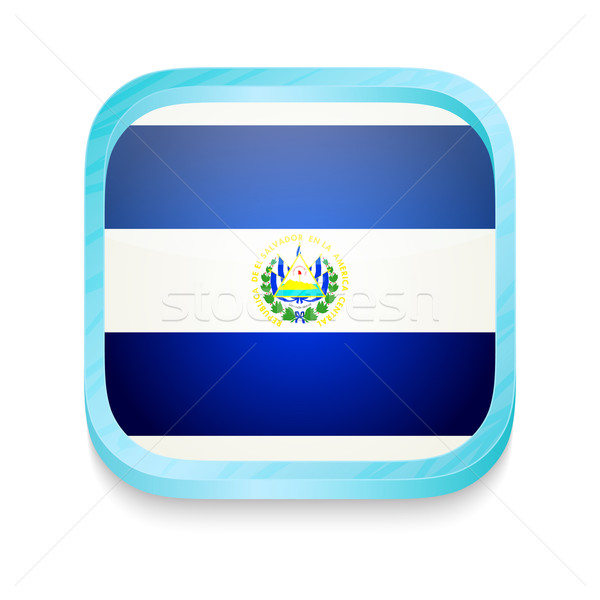 Smart phone button with El Salvador flag Stock photo © lirch