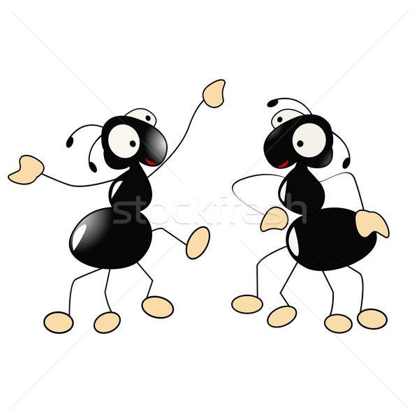 Formigas dança dois feliz pequeno mão Foto stock © lirch