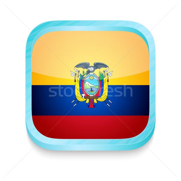 Smart phone button with Ecuador flag Stock photo © lirch