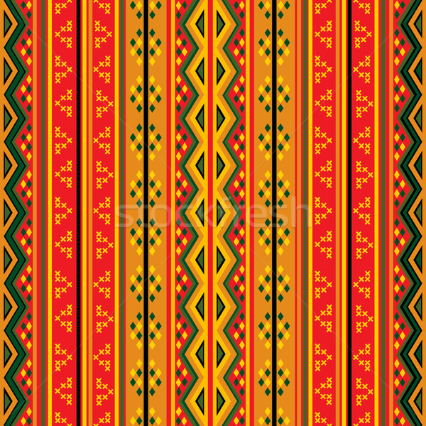 Geometric tribal pattern Stock photo © lirch