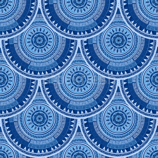 Seamless pattern with ethnic motif Stock photo © lirch