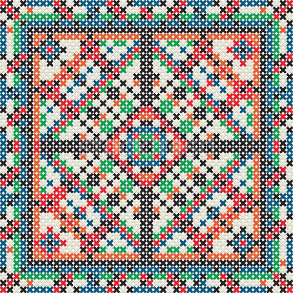 декоративный плитка текстуры зима синий Сток-фото © lirch