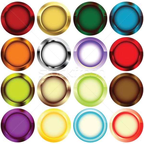 リム ボタン メタリック 色 抽象的な フレーム ストックフォト © lirch