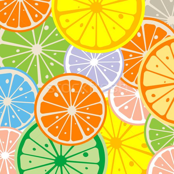 Limone fette sfondo salute rosso colazione Foto d'archivio © lirch