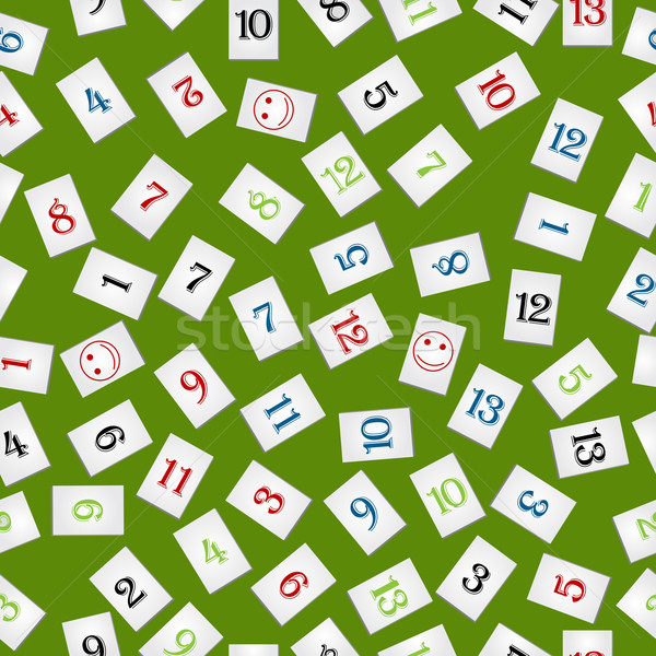 rummy pieces pattern Stock photo © lirch