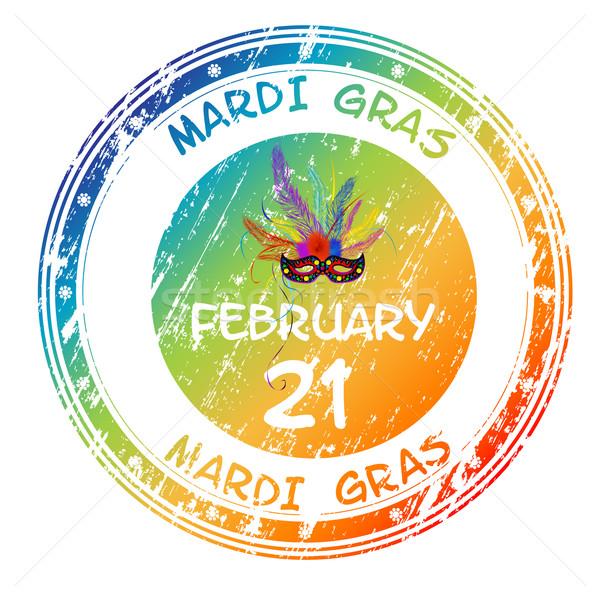 Mardi Gras grunge stamp Stock photo © lirch