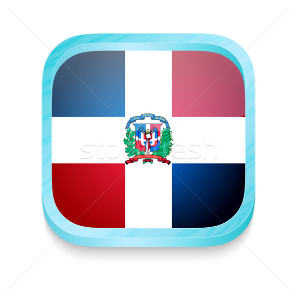 Smart phone button with Dominican Republic flag Stock photo © lirch