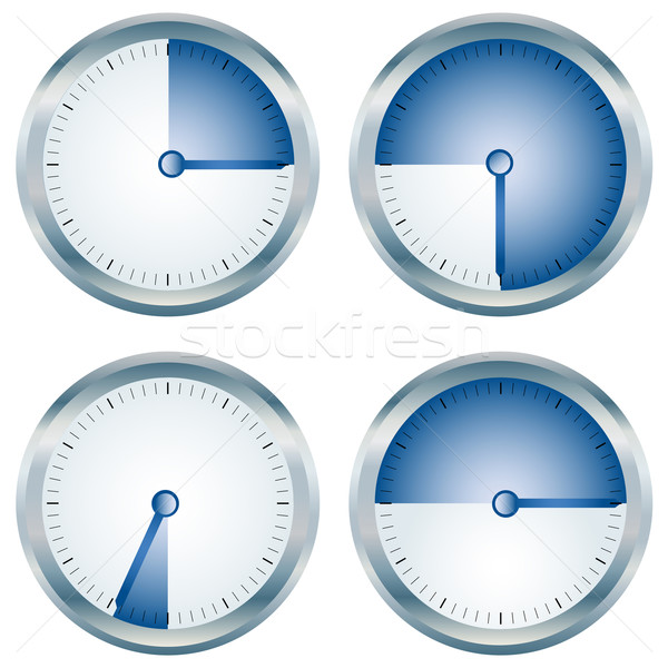 Lucido blu raccolta bianco clock sfondo Foto d'archivio © lirch