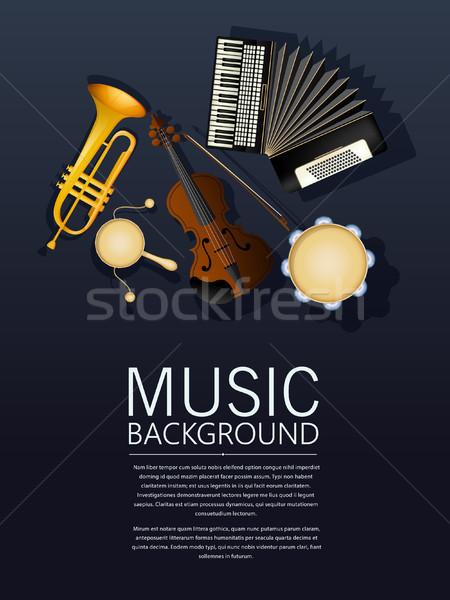 Hangszerek billentyűzet háttér koncert kulcs dzsessz Stock fotó © lirch