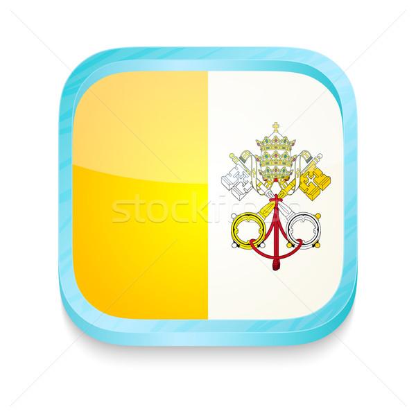 Przycisk watykan banderą telefonu ramki Zdjęcia stock © lirch