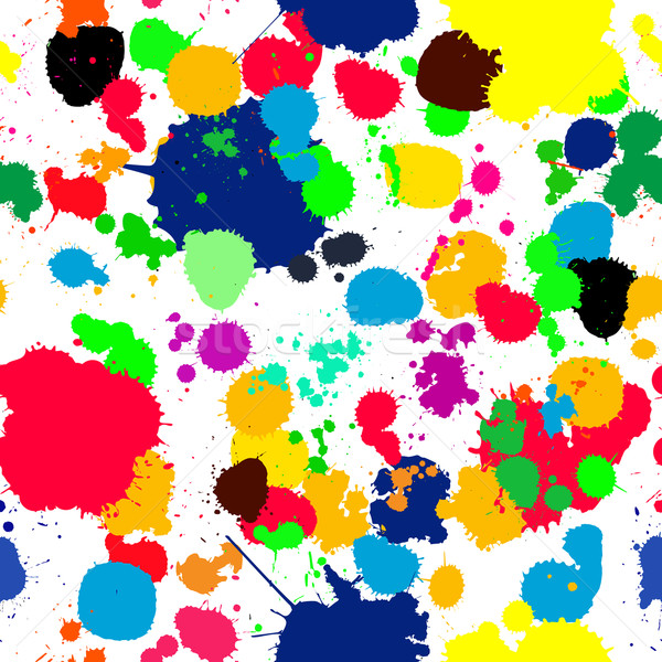 ink splats pattern in colors Stock photo © lirch