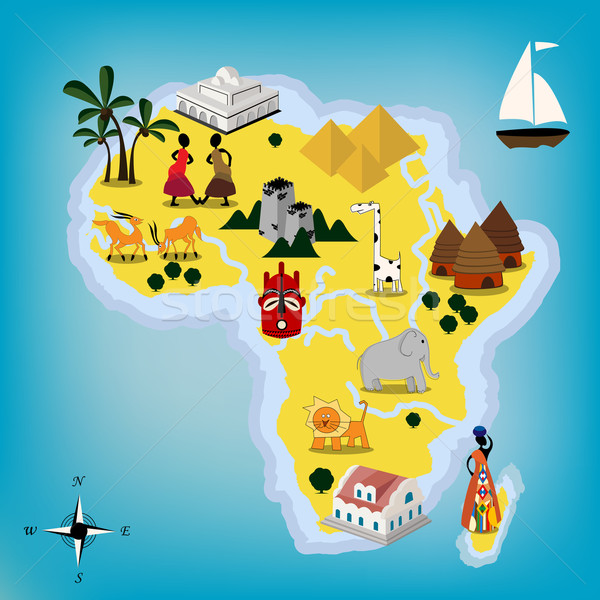 Africa map Stock photo © lirch