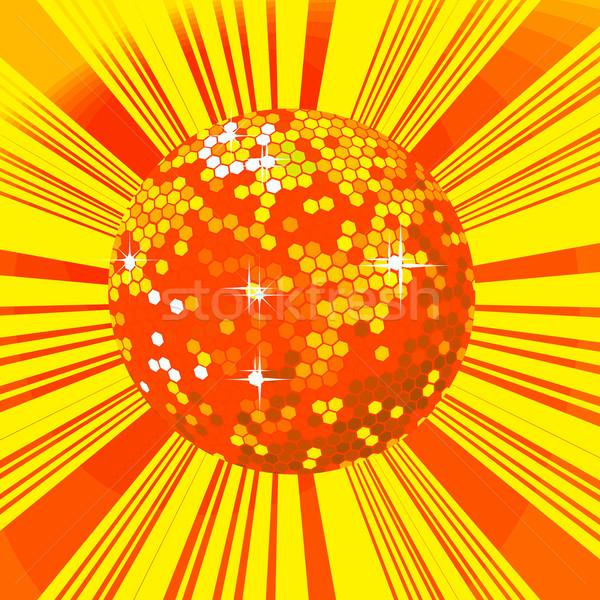 Stockfoto: Disco · ball · retro · partij · dans · licht · achtergrond