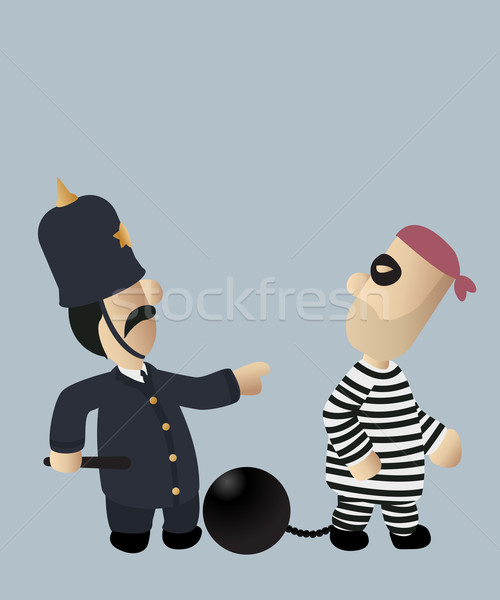 Cop and thief Stock photo © lirch