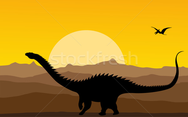 Dinosaurs background Stock photo © lirch