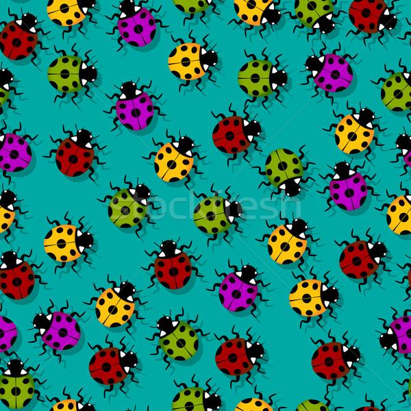 Coccinelle modèle cute peu coccinelles couleurs Photo stock © lirch