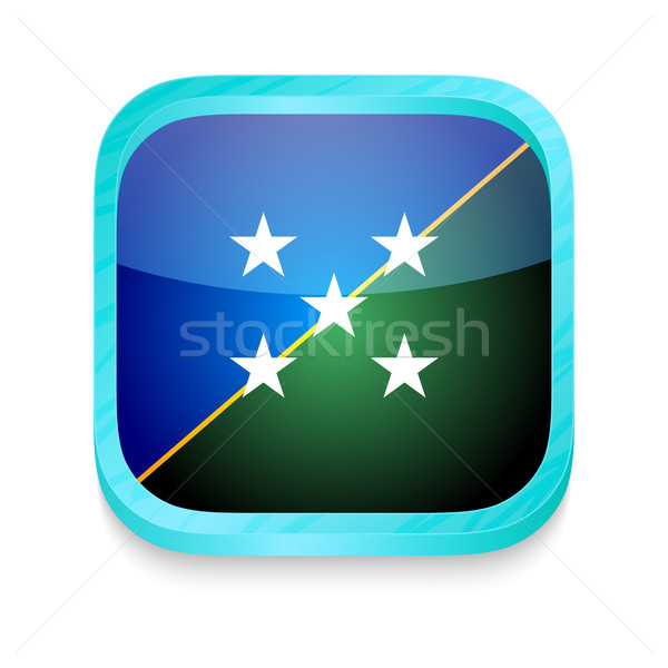 Smart phone button with Solomon Islands flag Stock photo © lirch