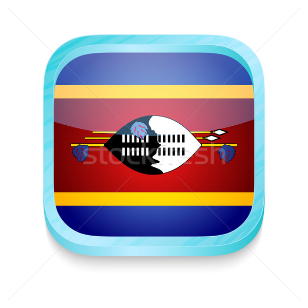 Smart phone button with Swaziland flag Stock photo © lirch