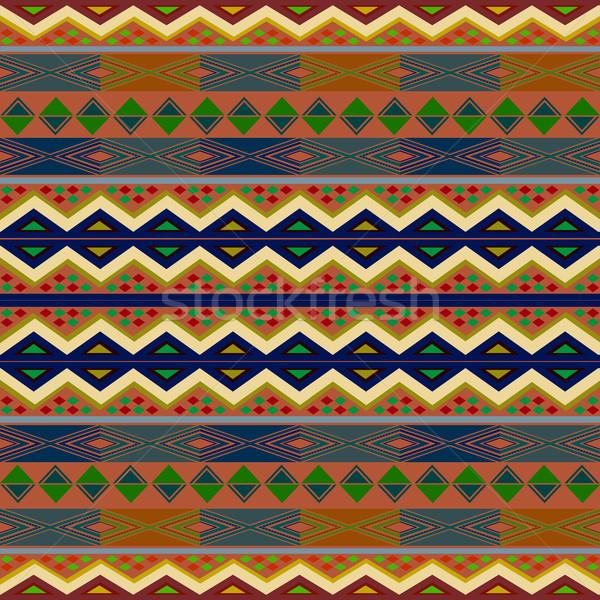 Foto d'archivio: Tappeto · african · creativo · design · elementi · abstract