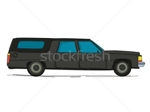 Cartoon hearse car Stock photo © lirch