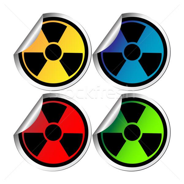 Hazzard warning stickers Stock photo © lirch