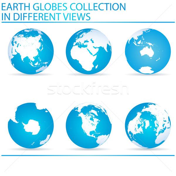 Earth globes Stock photo © lirch