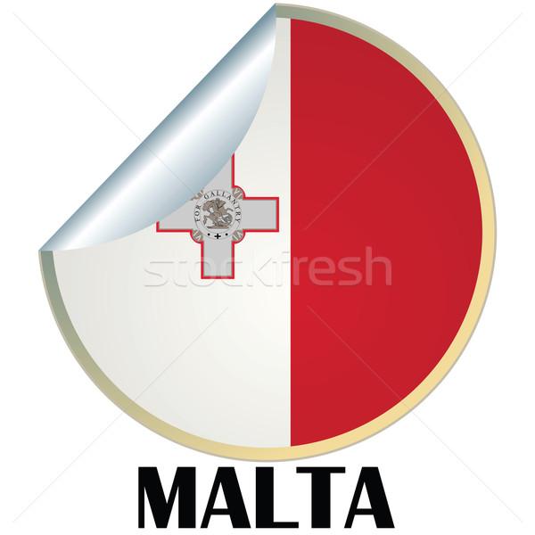Malta adesivo bandiera design segno badge Foto d'archivio © lirch