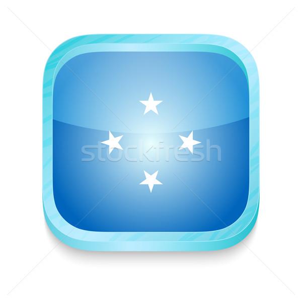 スマートフォン ボタン ミクロネシア フラグ 電話 フレーム ストックフォト © lirch