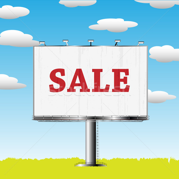 outdoor billboard with sale sign Stock photo © lirch