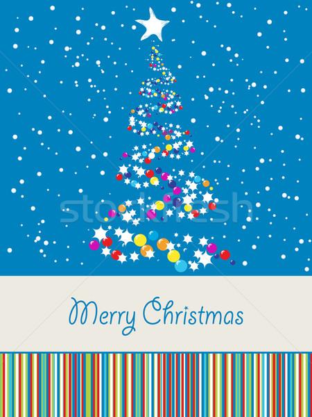 Joyous Christmas card Stock photo © lirch