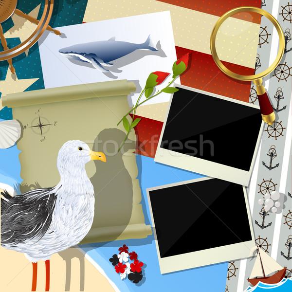 моряк альбом дизайна аннотация искусства древесины Сток-фото © lirch