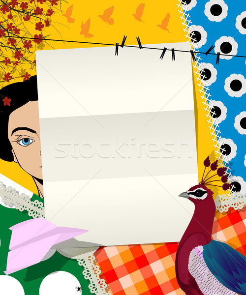 Letter collage Stock photo © lirch