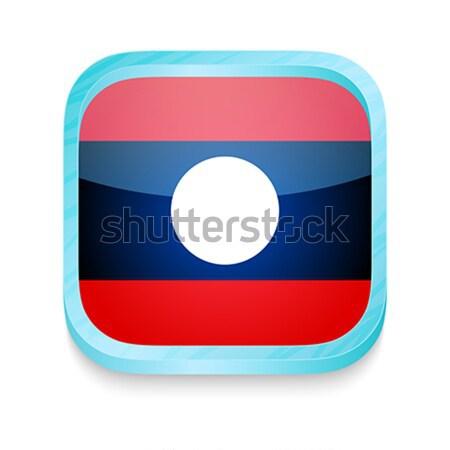 Bouton Laos pavillon téléphone cadre Photo stock © lirch