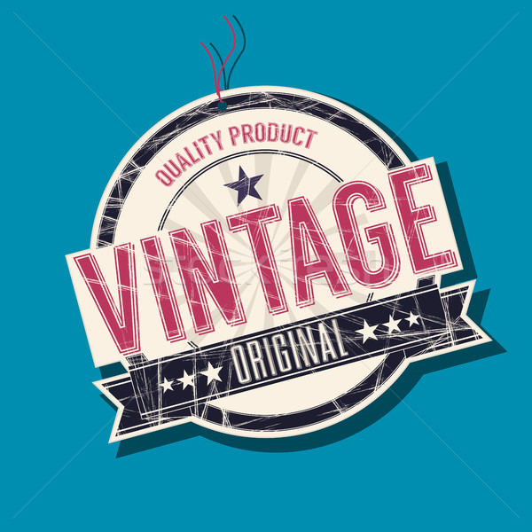 Vintage originale tag produit vecteur design Photo stock © lirch