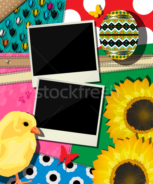Easter background, scrapbook design Stock photo © lirch
