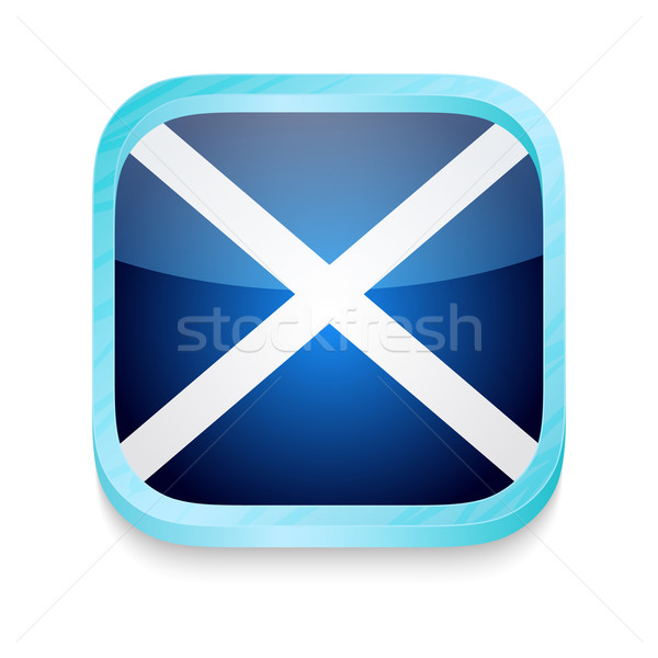 Smart phone button with Scotland flag Stock photo © lirch