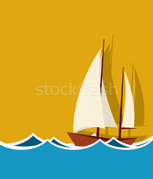 Sailing boat background Stock photo © lirch