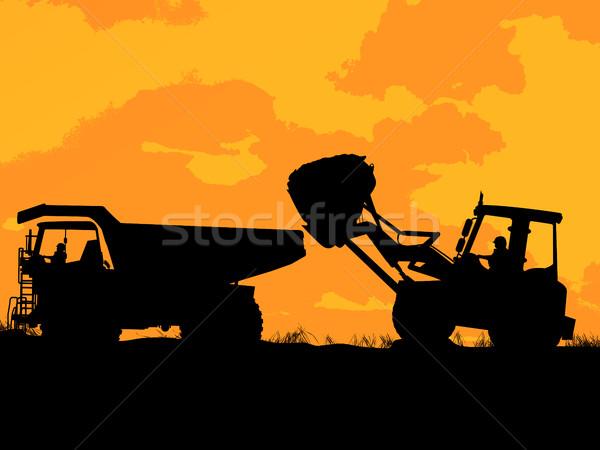 Construction vehicles Stock photo © lirch