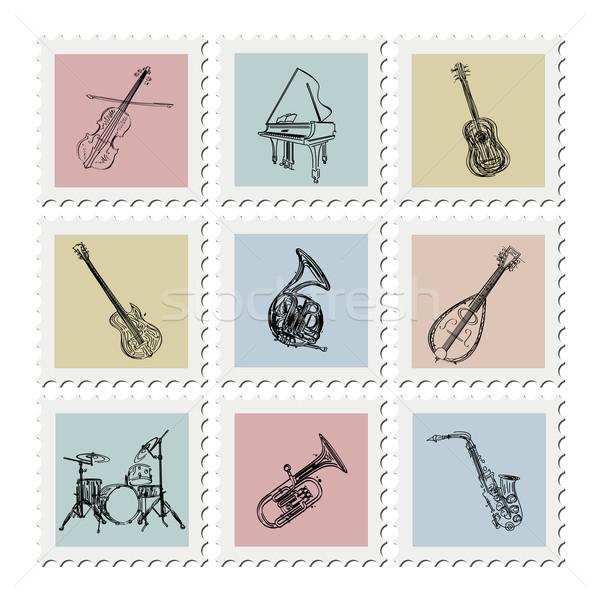 Postage stamp instruments Stock photo © lirch