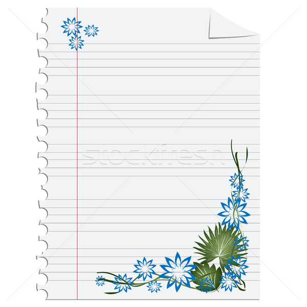 floral decoration on paper Stock photo © lirch