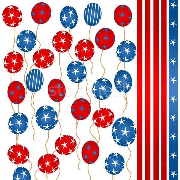 Stars and stripes balloons Stock photo © lirch