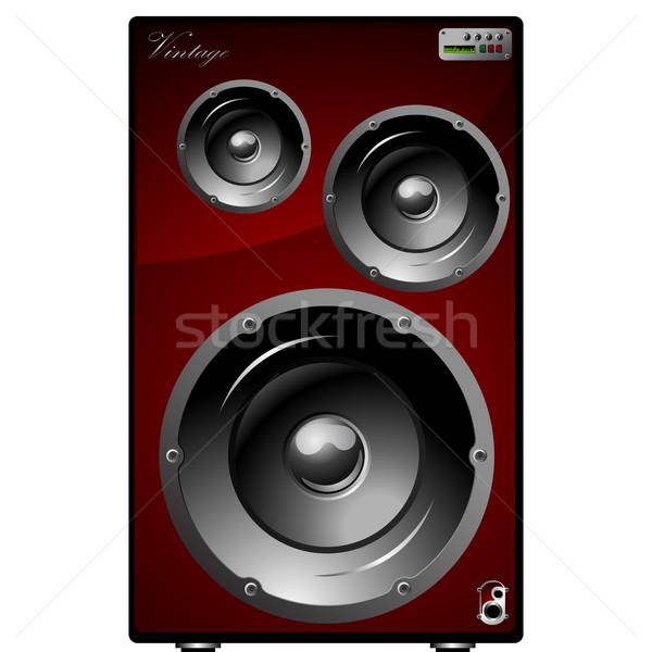 Głośniki biały przemysłu dźwięku środowisk audio Zdjęcia stock © lirch