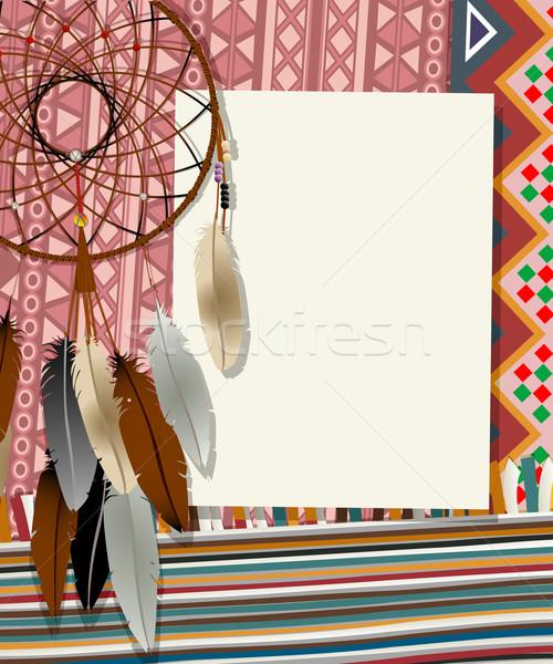 Sonho cartão texto colagem arte Foto stock © lirch