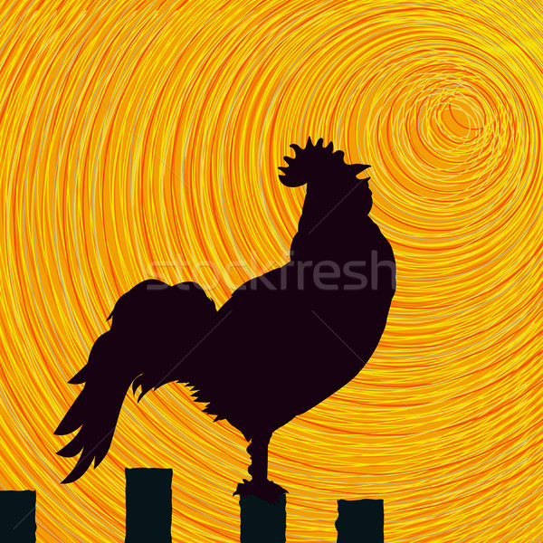 Rooster sketch background Stock photo © lirch