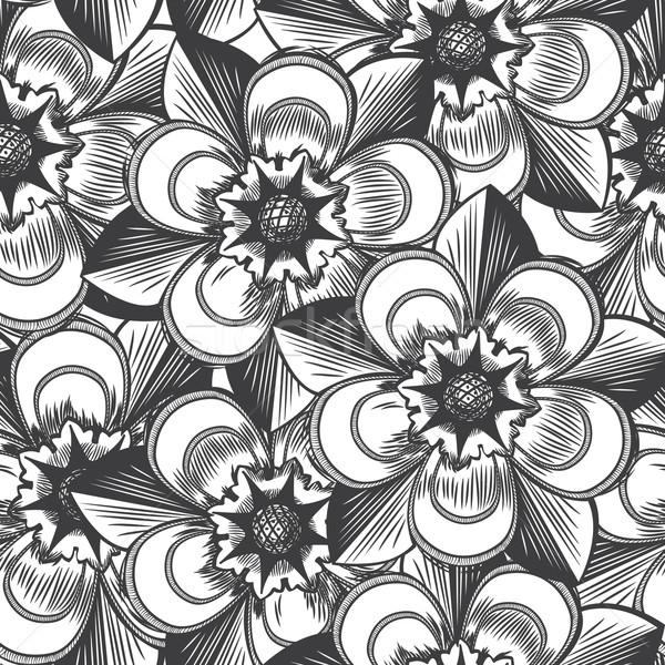 Stock fotó: Klasszikus · virágmintás · végtelen · minta · textúra · természet · levél