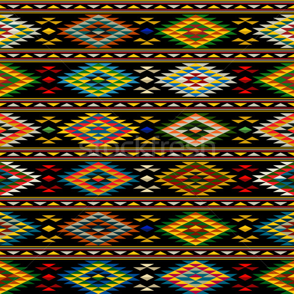 Stock photo: American Indian seamless pattern