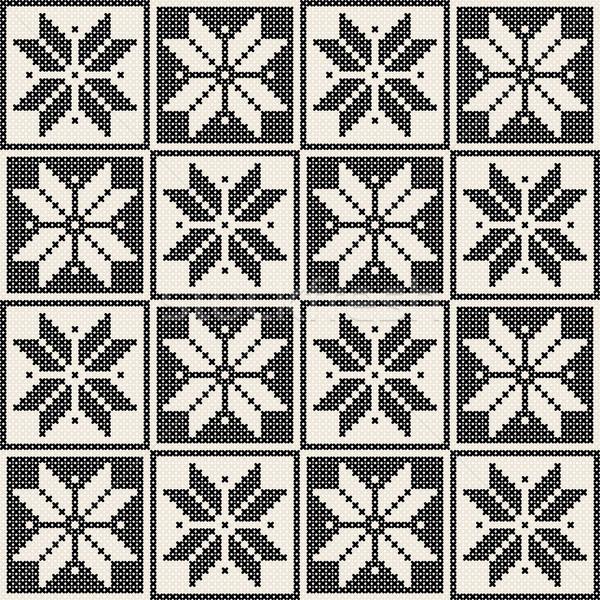 Seamless knit pattern Stock photo © lirch